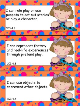 """Pre-K """"I Can"""" Statements based on Louisiana State Standard"""