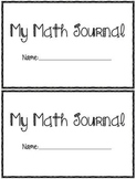 Pre-K - K Math Journal
