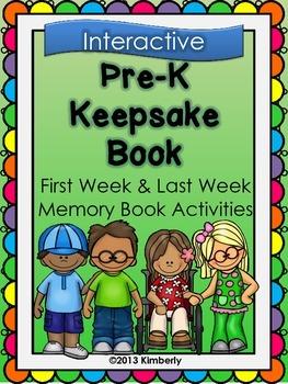 Pre-K Keepsake Book (First Week-Last Week Activities)