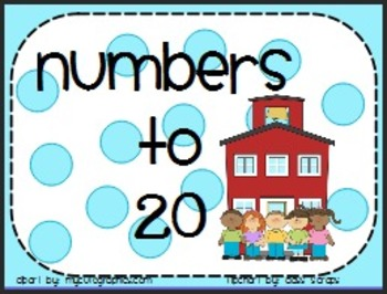 Pre-K, Kinder, First Back To School Making Numbers to 20,
