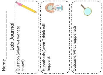 Pre K/Kinder Science Lab Form