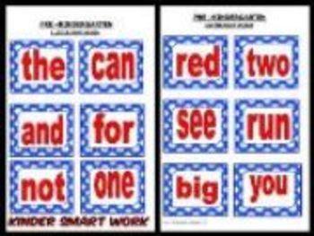 Pre-K & Kindergarten Sight Words