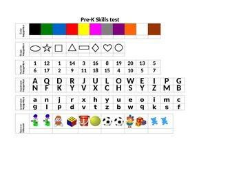 Pre-K / Kindergarten Skills Test