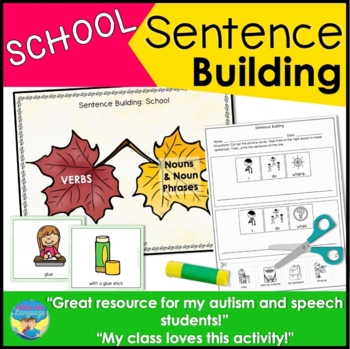Sentence Building with Pictures: School! Activities, Games