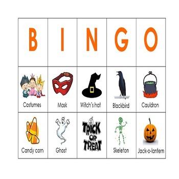 Pre-K and Kindergarten Halloween Picture Bingo