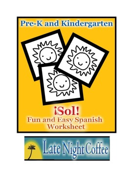 Pre-K and Kindergarten Sun (SOL) Spanish Worksheet