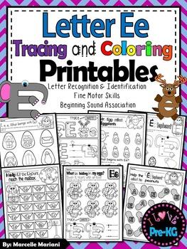 Pre-KG Alphabet Worksheets- LETTER Ee Printables-Tracing,