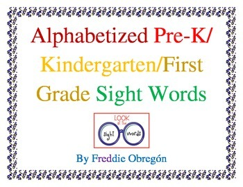 Pre-Alphabetized Sight Words