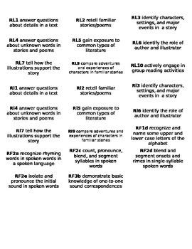Pre-Kindergarten Common Core Standards