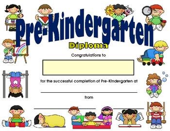 Pre-Kindergarten Diploma