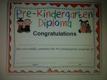Pre-Kindergarten Grad Diploma