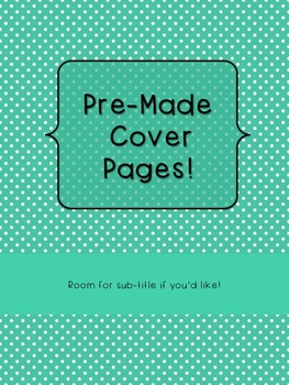 10 Pre-Made Polka Dot Cover Pages for Binders and Covers i