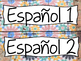 Pre-Made Spanish Class Learning Targets