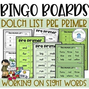 Pre-Primer Bingo Boards