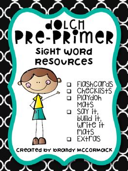Pre-Primer Dolch Sight Word Resources