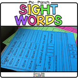 Pre-Primer Dolch Sight Word Packet