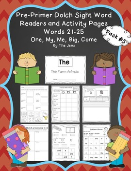 Sight Word Readers and Word Work Pre-Primer Dolch Words 21