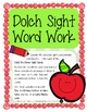Pre-Primer Dolch Sight Words Activity -Literacy Centers, D