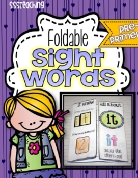 Pre-Primer Interactive Foldable Sight Words
