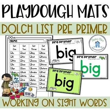 Pre-Primer Play Dough Mats