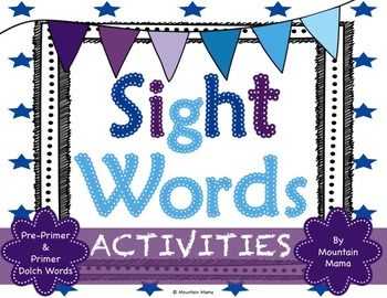 Pre-Primer & Primer Sight Word Activities for Dolch Words