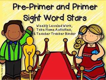 Pre-Primer & Primer Sight Word Stars: Leveled Work, Take H