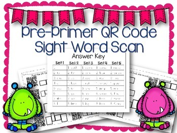 QR Code Literacy Center & Write the Room Activity: Pre-Pri