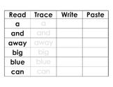 Pre Primer Read Trace Print Paste
