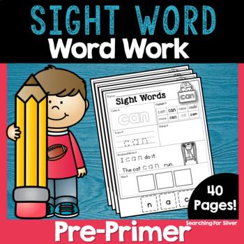 Pre-Primer Sight Word No-Prep
