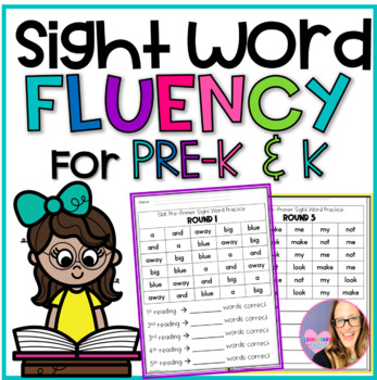 Pre Primer Sight Word Fluency Practice Sheets