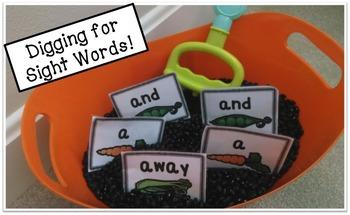 Pre-Primer Sight Word Activities (Sensory Tub, Memory Game