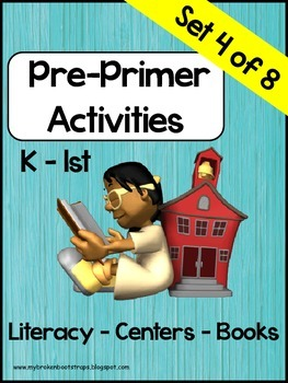 Pre Primer Sight Word Activities Set 4 of 8