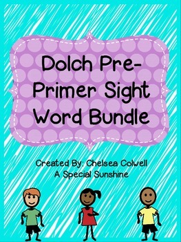 Pre-Primer Sight Word Unit
