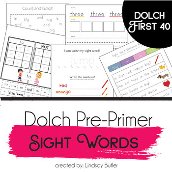 Pre-Primer Sight Word Curriculum
