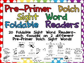Pre-Primer Sight Word Emergent Reader Foldable Little Books