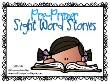 Pre-Primer Sight Word Readers