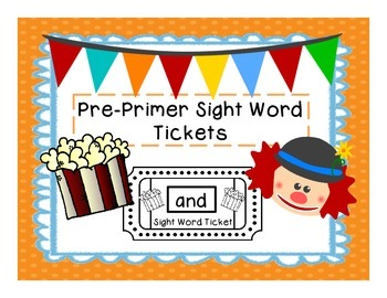 Dolch Sight Word Tickets:Pre-Primer