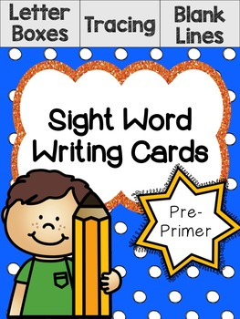 Pre-Primer Sight Word Writing Cards