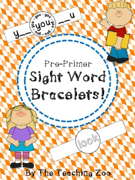Pre-Primer Sight Words Fun Learning Bracelets