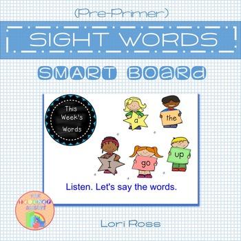 Pre-Primer Sight Words SMARTBoard Notebook