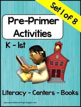 Pre-Primer Word Activities, Set 1 of 8