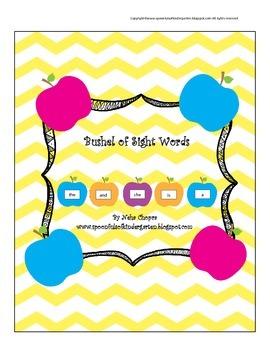 Sight Words- Dolch Pre Primer and Kindergarten