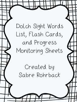 Pre-Primer to 3rd Grade Dolch Sight Word List, Flashcards