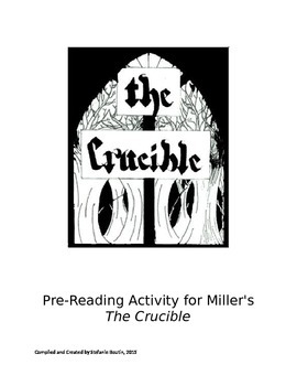 Pre-Reading Activity for Miller's The Crucible