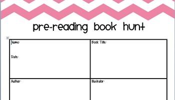 Pre-Reading Book Hunt
