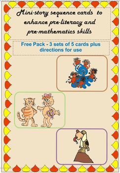Pre-Reading Logic Sequence Cards Freebie