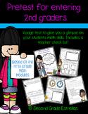 Pre-Test for entering 2nd Graders