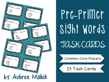 Pre-Primer Sight Word Task Cards/Center