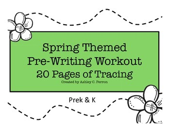 Pre-Writing--Spring Themed Tracing