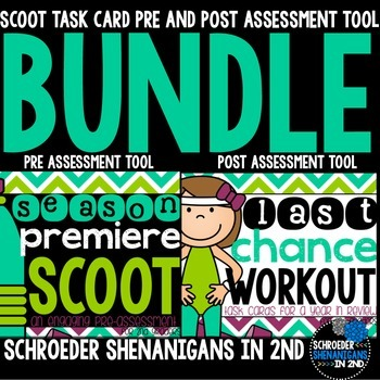 Pre and Post Assessment TASK CARD BUNDLE